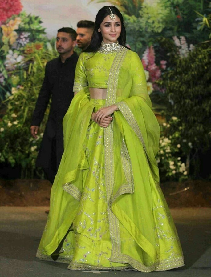 Top 10 Fashion Looks of Alia Bhatt - green lehenga