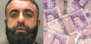 £ 470k को मनी लांडर से जब्त किया गया, जिसने पाकिस्तान में 'वोन लॉटरी' च की