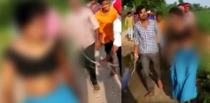 Indian Girl aged 19 Beaten and Paraded for Eloping with Boy f