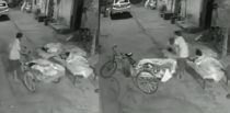 Indian Man trying to Kidnap Sleeping Girl caught on CCTV f
