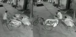 Indian Man trying to Kidnap Sleeping Girl caught on CCTV