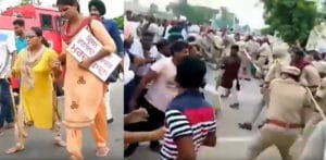 Indian Teachers Protest Beaten & Water Cannoned by Police f