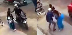 Indian Woman stops Thief on Motorbike Stealing her Chain