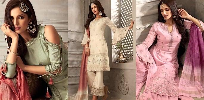 Petals Salwar Kameez Suits for a Lavish Look f
