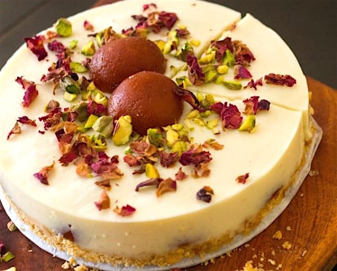 5 Desi Cheesecake Recipes to Enjoy - gulab jamun