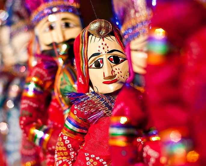 Famous Traditional Crafts of Rajasthan in India - Puppet