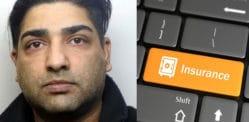 फ्रॉडस्टर बीमा घोटाला और चोरी £ 18,000 के लिए जेल गए