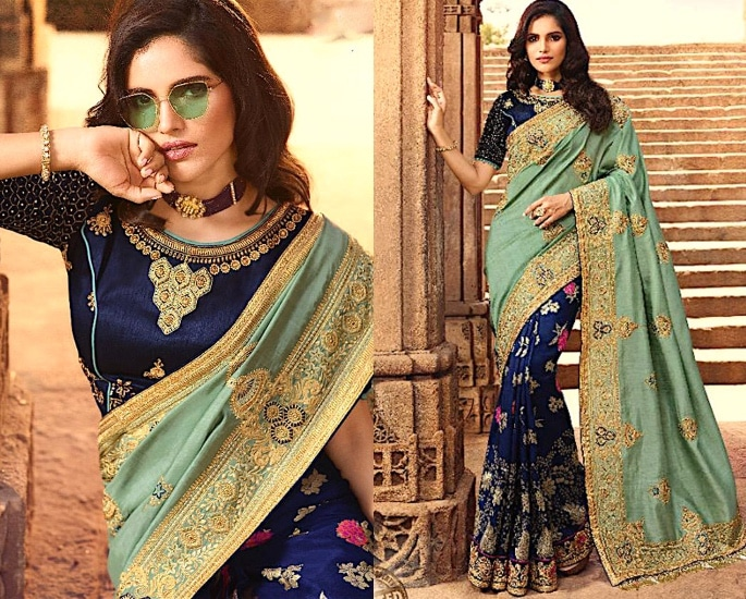 Heavy Silk Sarees for an Elegant and Stylish Look - blue