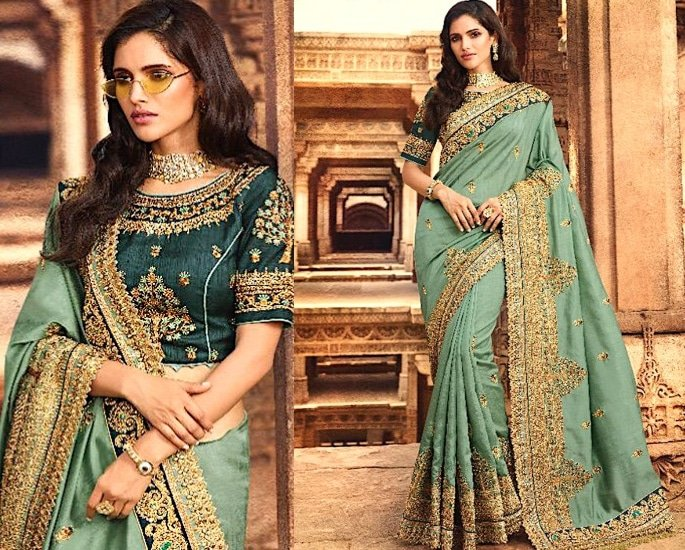 Heavy Silk Sarees for an Elegant and Stylish Look - turquoise