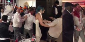Horrific Fight and Brawl erupts at UK Indian Wedding f