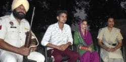 Indian Couple fearing Family Attack protected by Security
