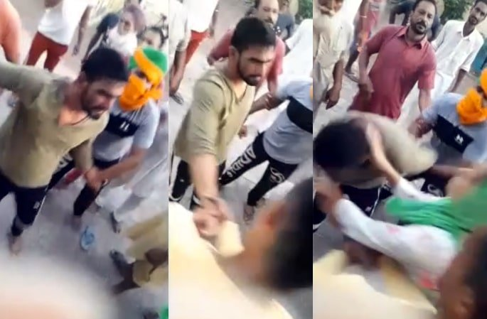 Indian Man beaten in Public by Girl's Family for Harassing Her - man