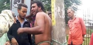 Indian Man tied to a Pole and Beaten for Obscene Act f