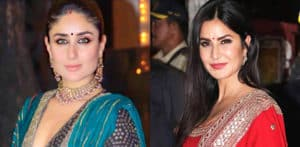 Katrina and Kareena ooze Elegance in their Lehengas f