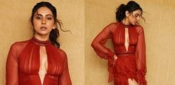 Rakul Preet stuns in Gorgeous Red Luxurious Gown