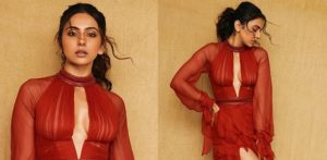 Rakul Preet stuns in a Gorgeous Red Luxurious Gown f