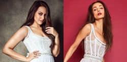 Sonakshi Sinha opts for Same White Dress as Malaika Arora