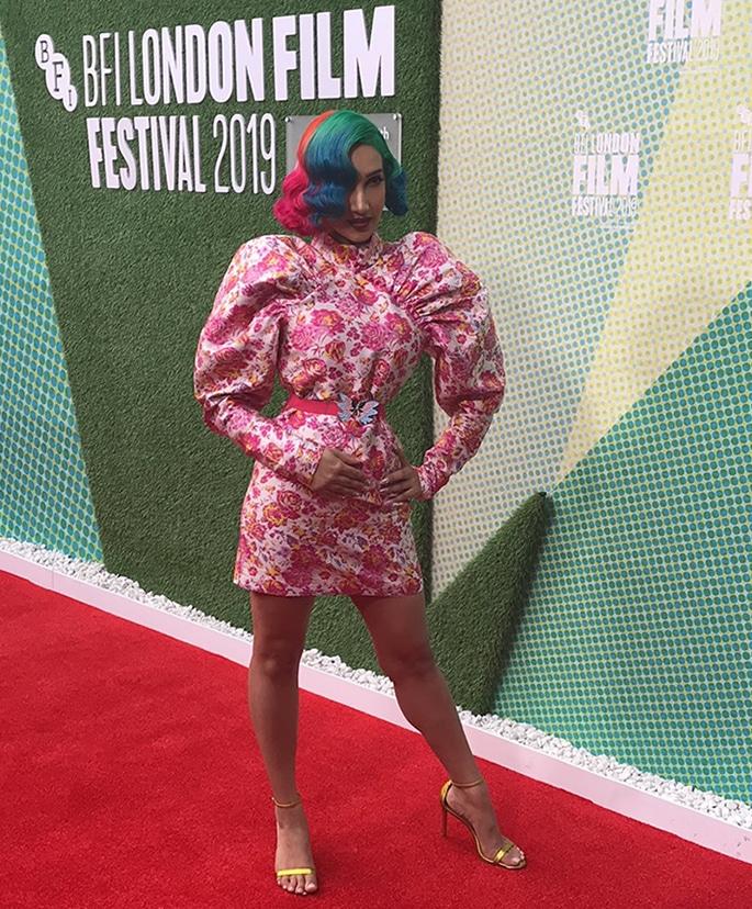 Sukki Singapora attends 'Peanut Butter Falcon' BFI Premiere - Singapora