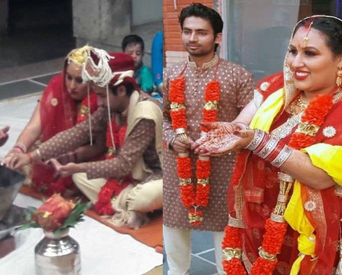 US Woman marries Man in India after Facebook Love - ceremony (1)