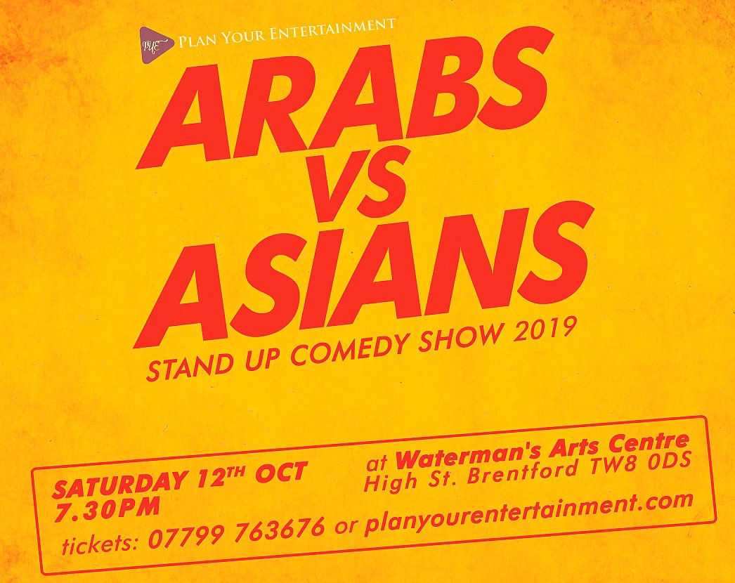 Win Tickets for Arabs vs Asians: Stand Up Comedy Show 2019 - IA 1