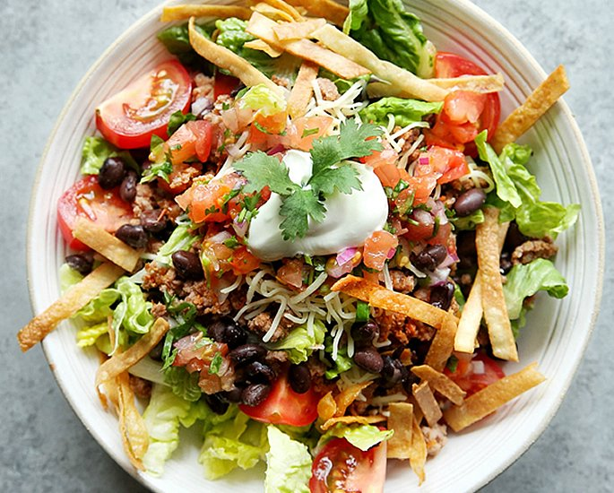 5 Dishes that Originate from the United States - salad