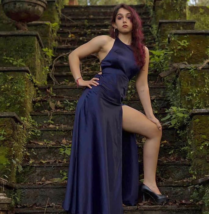 Aamir Khan's daughter Ira Khan 'Nagin' to 'Bhoot' Photos - blue gown