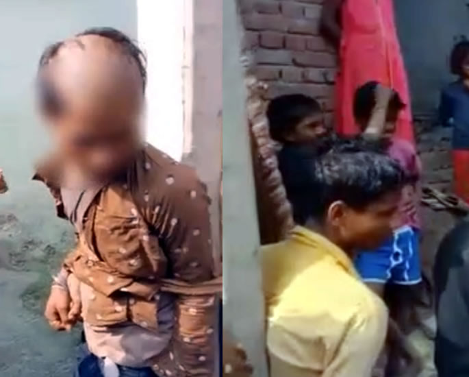 Indian Youths Beaten & Head Shaved for Married Woman 'Affair' - pair