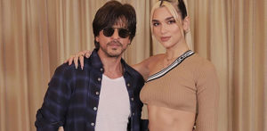 Singer Dua Lipa taught Dance Moves by SRK in India! f