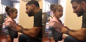 US Dad quizzes his Little Girl for Stealing Friends Jacket! f