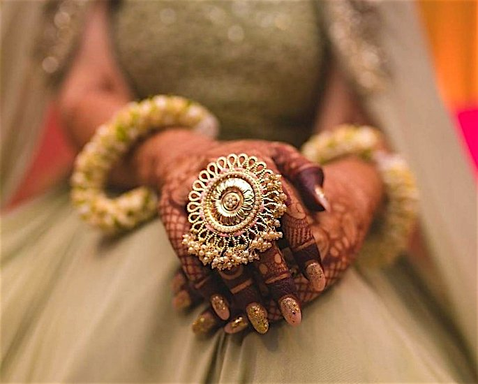 10 Gold Wedding Rings & Designs for Desi Brides - statement