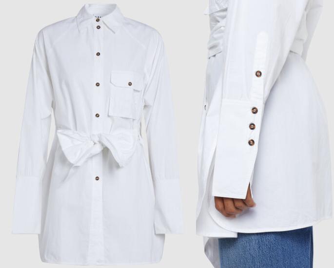 आधुनिक महिलाओं के लिए 7 मामूली ब्लाउज और शीर्ष डिजाइन - सफेद