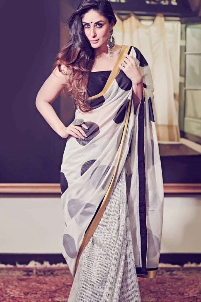 7 Stylish Looks of Kareena Kapoor in a Saree - retro vibes