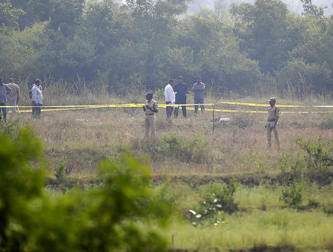 Accused Rapists of Priyanka Reddy shot by Indian Police - scene
