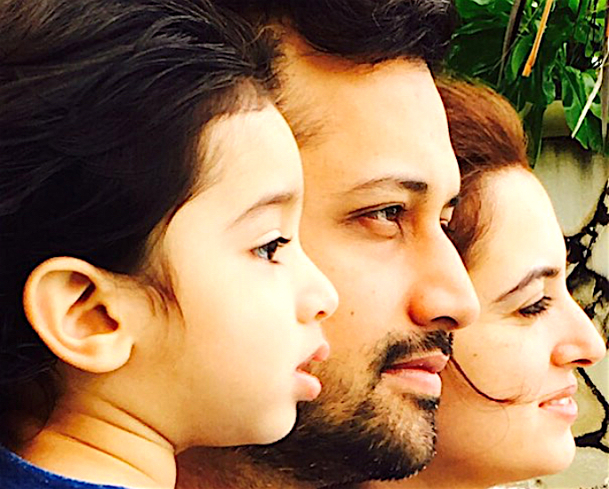 Atif Aslam and Sara Bharwana have a Baby Boy - trio