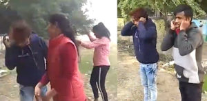 Indian 'Anti-Romeo' Girls Beat & Smack Harassing Boys f