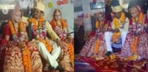 Two Indian Cousin Sisters marry Same Man at Wedding f