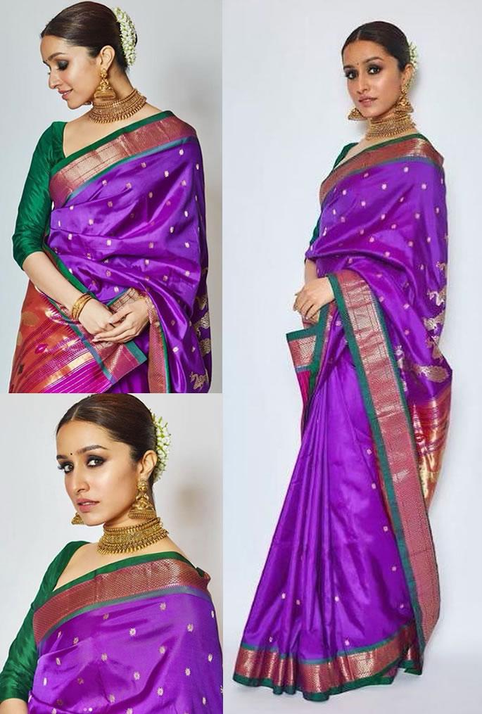 7 Incredible Fashion Looks of Shraddha Kapoor - saree