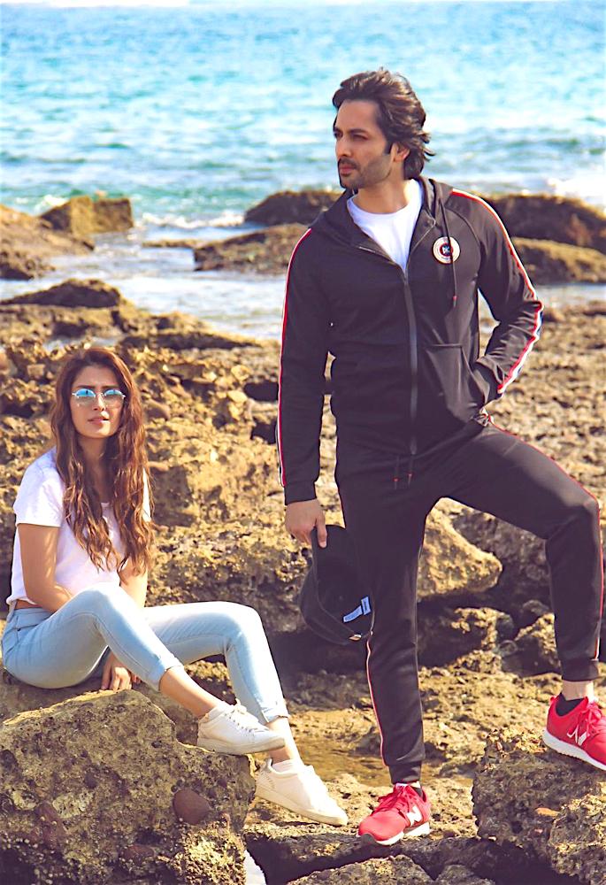 Actress Ayeza Khan shares Fond Memories from 2019 - beach pose