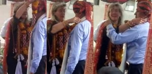German Wife comes to India for Traditional Wedding f