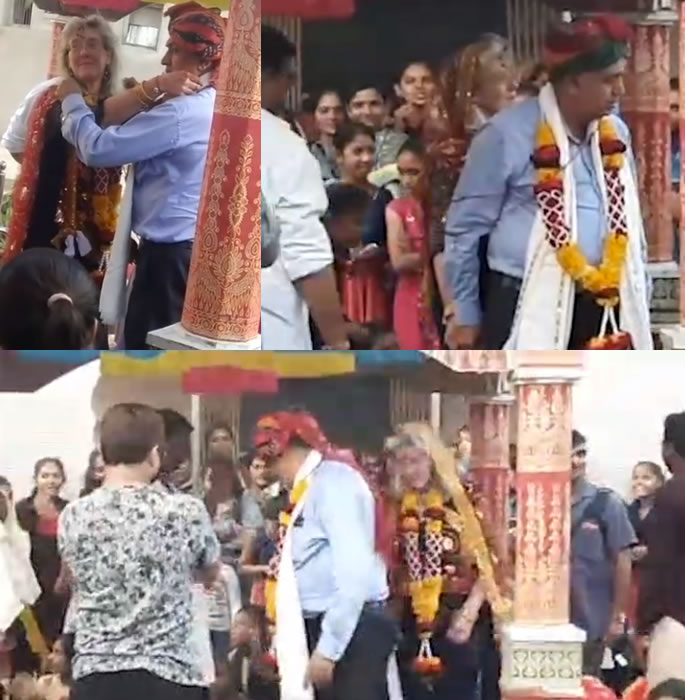 German Wife comes to India for Traditional Wedding - wed