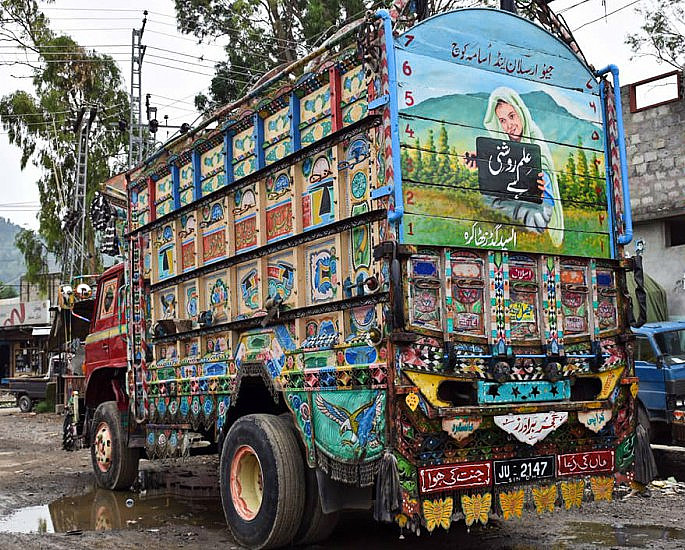 Empowering Female Rights Through Pakistan Truck Art - IA 1
