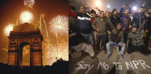 India starts 2020 with Celebrations and CAA Protests f