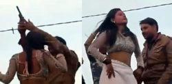 Indian Man shoots Celebratory Gunfire with Dancer