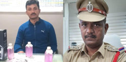 Indian Policemen caught taking Rs 50K & Alcohol Bribes