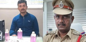 Indian Policemen caught taking Rs. 50k & Alcohol Bribes f