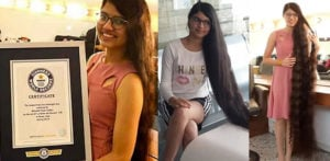 India's Nilanshi Patel breaks World Record for Longest Hair f