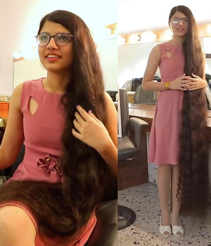 India's Nilanshi Patel breaks World Record for Longest Hair - hair