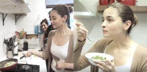 Master Chef Alia Bhatt cooks Zucchini Sabri f