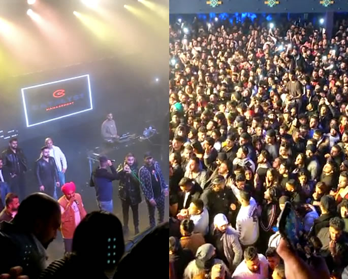 Sidhu Moose Wala UK Concert marred by Fight & Violence - crowd