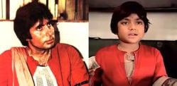 Which Child Stars Played a Young Amitabh Bachchan?